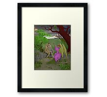 Adam, Eve and Raphael. Framed Print