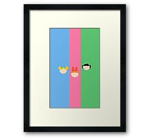 Utonium's Girls (Full Stripe) Framed Print