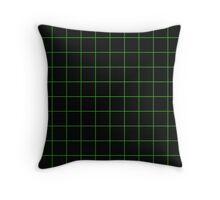 Grid Black/Apple Throw Pillow