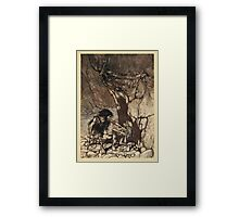The Rhinegold & The Valkyrie by Richard Wagner art Arthur Rackham 1910 0093 Mime Howling Framed Print