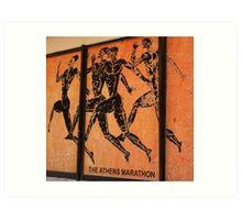 Athens Marathon Street Mural Art Print