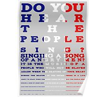 Do you hear the people sing? Les Mis design Poster