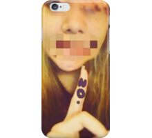 Say no iPhone Case/Skin