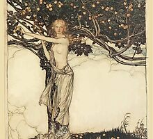 The Rhinegold & The Valkyrie by Richard Wagner art Arthur Rackham 1910 0061 Freia, the Fair One by wetdryvac