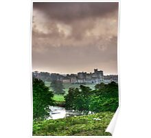 """A Constable View of Alnwick Castle"" Poster"