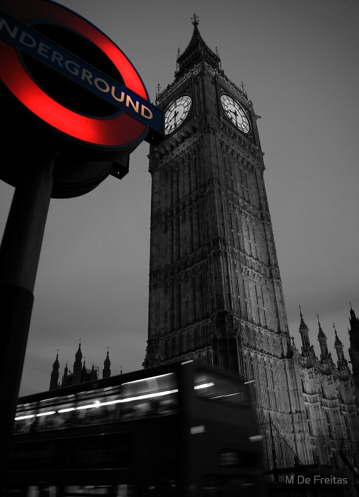 Westminster Tube by Miguel De Freitas