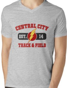 Central City Track & Field V2 Mens V-Neck T-Shirt