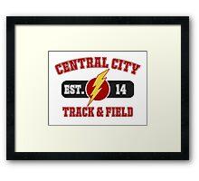 Central City Track & Field V2 Framed Print