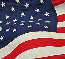 american flag series 1 (red, white and blue 3) by cetrone