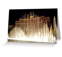 Bellagio Fountains - Las Vegas Greeting Card