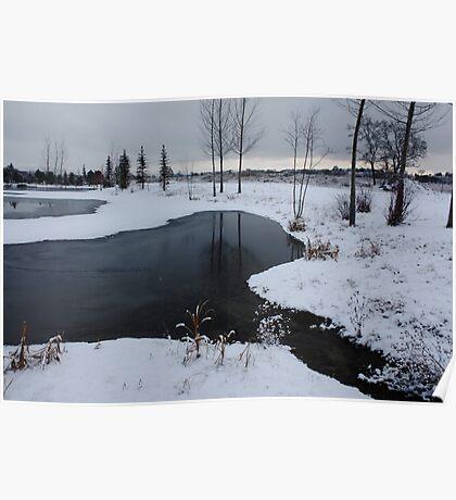 Wonderland of winter lakes ! Poster