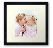 Precious little ones Framed Print