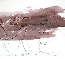 Nude 005 in Pen and Ink by Enchanted Studios