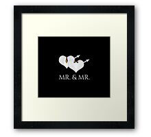 Mr Tuxedo Heart Tie and Bow Tie Framed Print