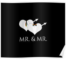 Mr Tuxedo Heart Tie and Bow Tie Poster