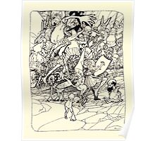 The Zankiwank & the Bletherwitch by Shafto Justin Adair Fitz Gerald art Arthur Rackham 1896 0201 Mixed Up Limbs Poster
