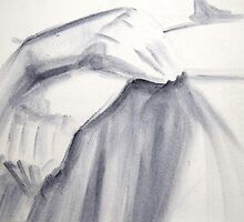 Hands Detail Acrylic Sketch by Enchanted Studios
