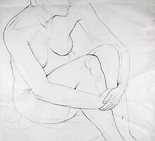 Female Nude 020 Pencil Sketch by Enchanted Studios