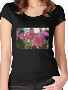 Pink Geraniums Women's Fitted Scoop T-Shirt