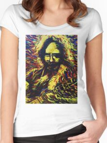 Fire Jerry - Design 1 Women's Fitted Scoop T-Shirt