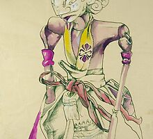 Pen and Ink Oriental Figure by Enchanted Studios