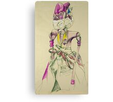 Pen and Ink Oriental Figure Canvas Print