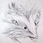 Pen and Ink Hedgehog by Enchanted Studios