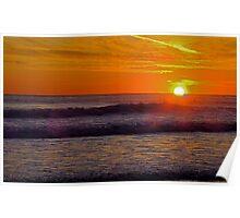 Sunset at Carcavelos 1 Poster