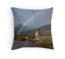 A Rainbow at Cradle Throw Pillow