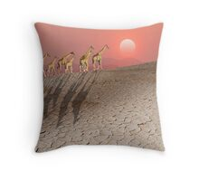 DAMARALAND SUNSET WITH GIRAFFES Throw Pillow