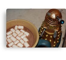 Dalek, Coffee, Cocoa and Marshmellows Canvas Print