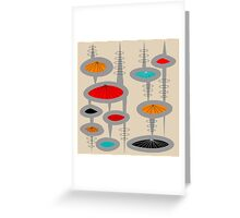 Atomic Era Inspired Art Greeting Card