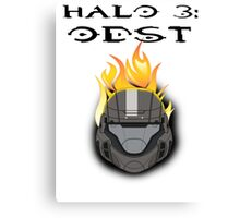 Halo 3: ODST Orange Flaming Helmet Canvas Print