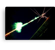 Fireworks shooting into the sky Canvas Print