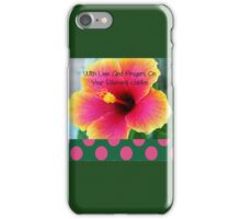 Nuns or Clergy Silver Jubilee Hibiscus Flower iPhone Case/Skin