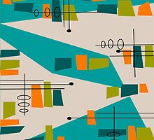 Mid-Century Modern Abstract Space Age by Gail Gabel, LLC