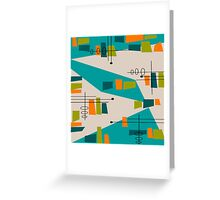 Mid-Century Modern Abstract Space Age Greeting Card