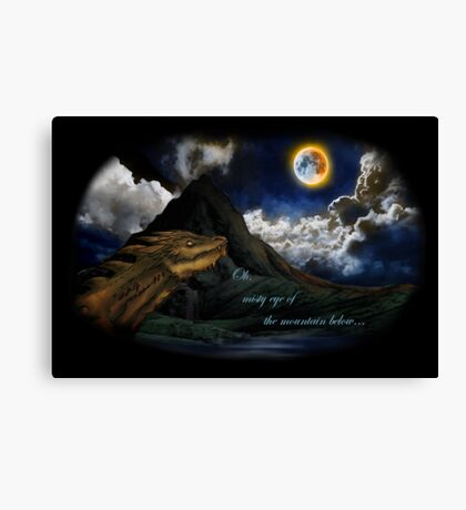 Smaug and the Lonely Mountain Canvas Print