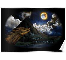 Smaug and the Lonely Mountain Poster