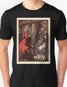 Hansel & Grethel & Other Tales by Grimm Wilelm and Jacob art by Arthur Rackham 0169 Red Riding Hood What Big Ears You Have Grandmother T-Shirt