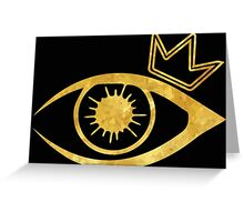 Eye of the Crown  Greeting Card