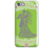 Wedding Tattered Design  iPhone Case/Skin