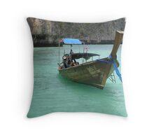 Blue Lagoon - Phi Phi Island, Thailand Throw Pillow