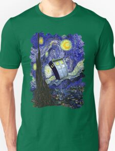 Tardis Starry Night Unisex T-Shirt