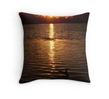 Perfect End - Oxbow Park Sunset Throw Pillow