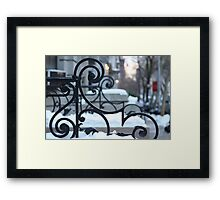 Snowbound Scrolls Framed Print