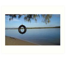 Tire Swing - Australia Art Print