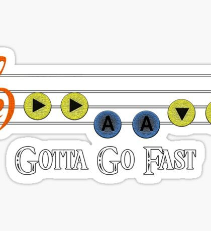 Song of Double Time - Gotta Go Fast Sticker