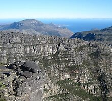 View from the Top - Table Mountain, South Africa by Ginelle Colombo