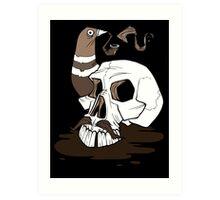 Colonel Pigeonpipe's Skull Art Print